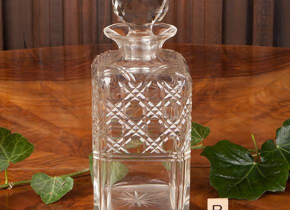 Edwardian Cut Glass Spirit Decanter