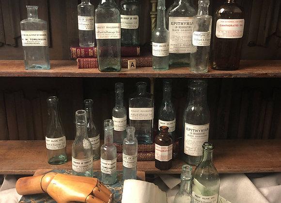 A Group of 20 Victorian Pharmacy / Chemist Bottles