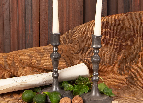 Georgian Pewter Candlesticks