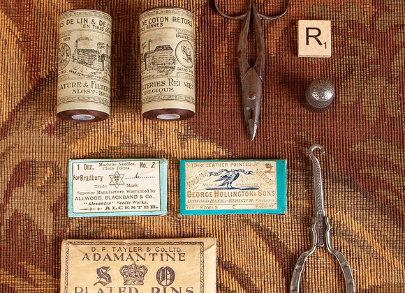 A Group of Sewing Items from the Victorian Period