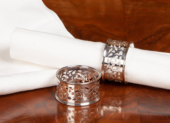 Pair of Victorian Silver Plated Napkin Rings
