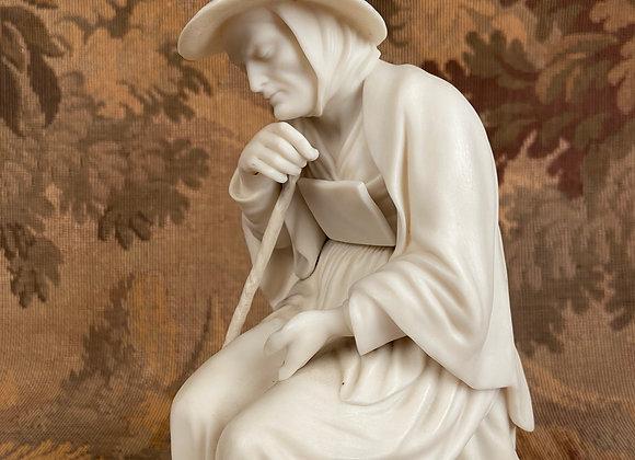 Victorian Parian Figure of a Begger