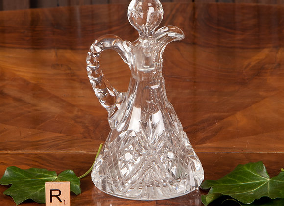 Late Victorian Cut Glass Oil Bottle