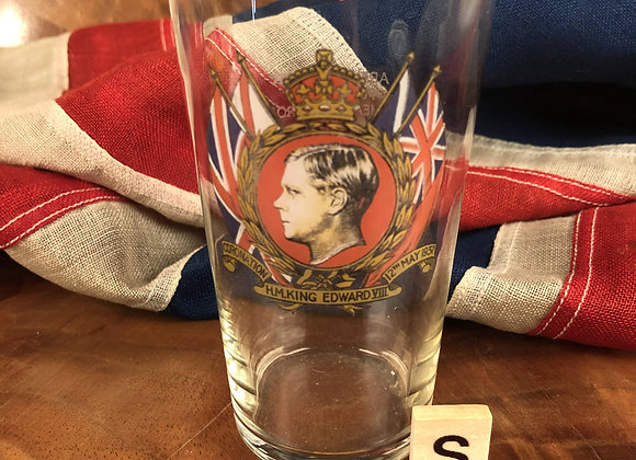 Commemorative Glass Tumbler for King Edward VII