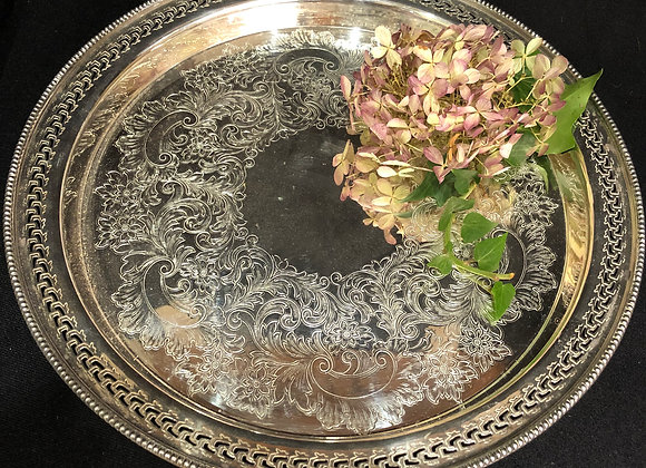 Lovely Silver Plated Tray/Salver