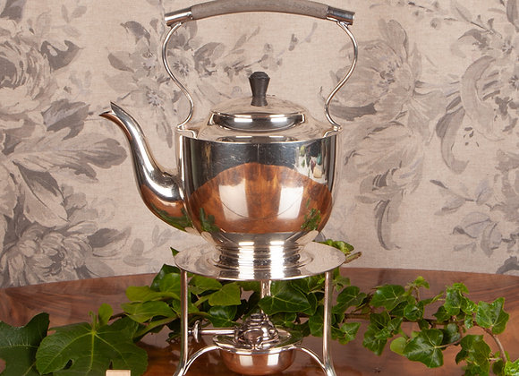 An Early 20th Century Silver Plated Spirit Kettle