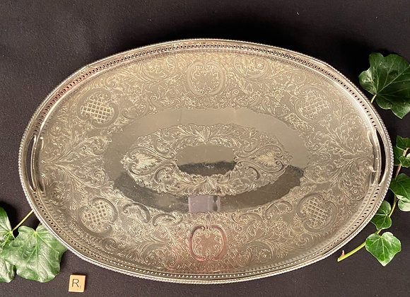 Large Silver Plated Gallery Tray