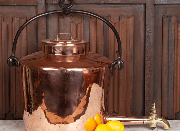 Unusual Large Copper Hot Water Urn / Samovar