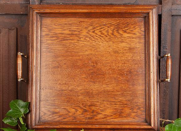 Edwardian Oak Serving Tray