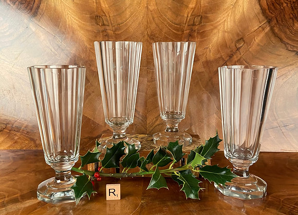 Heavy Victorian Glass Goblets