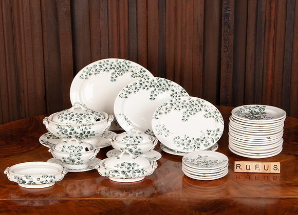 A Large Victorian Children's Pottery Dinner Service of 38 pieces