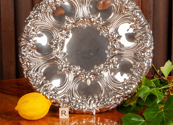 A Late Victorian Silver Plated Serving Dish