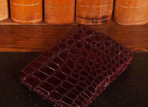 A Large Early 20th Century Crocodile Skin Cigar Case
