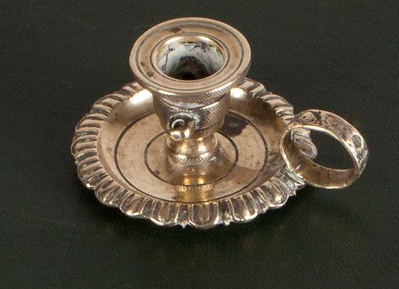 Small Early Victorian Brass Chamberstick