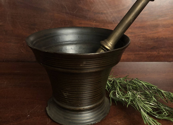 Large Late 18th Century Bronze Pestle and Mortar