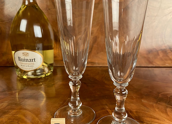 A Pair of Victorian Champagne Flutes