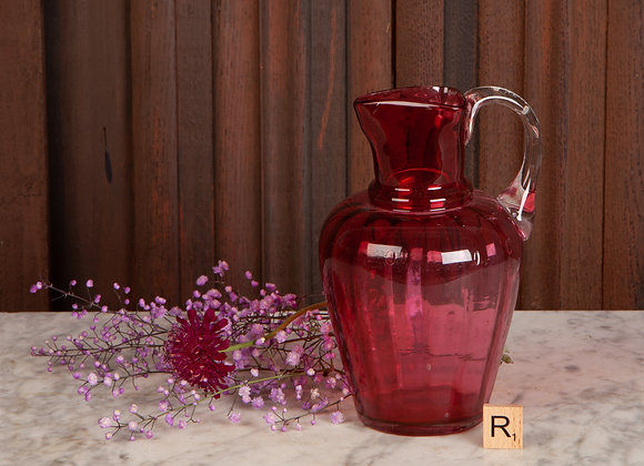 Late Victorian Cranberry Glass Jug