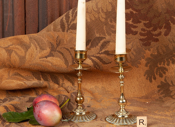 Early 20th Century Brass Candlesticks