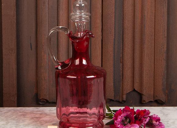 Victorian Cranberry Glass Claret Jug