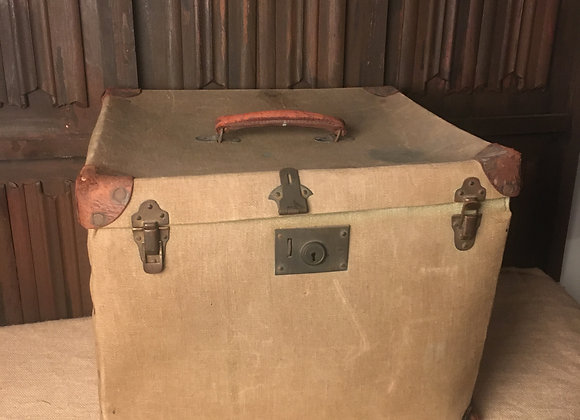 Large Canvas Covered Hat Box