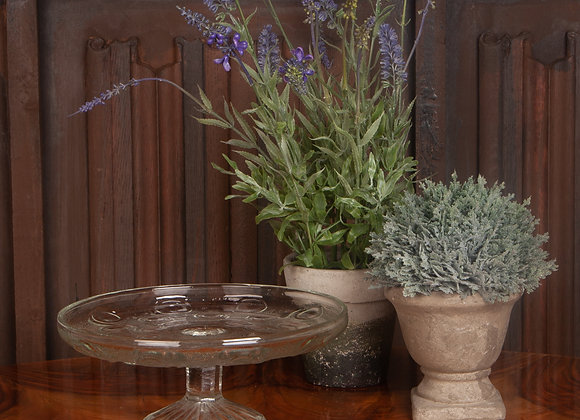 Large Edwardian Pressed Glass Cakestand