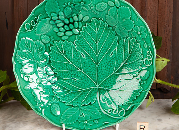 Late Victorian Majolica Leaf Plate
