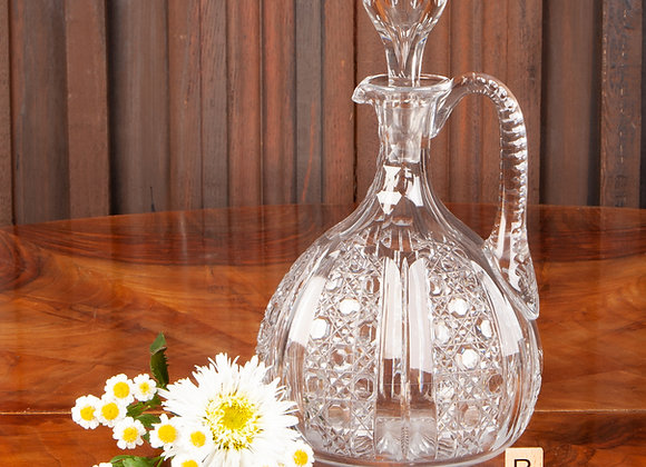 Victorian Cut Glass Decanter/Claret Jug