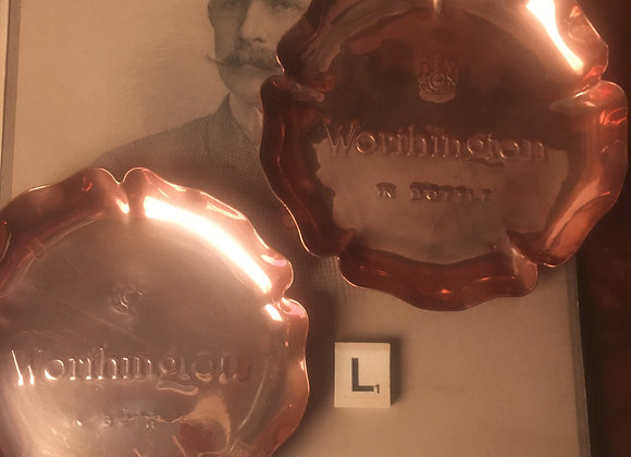 A Pair of 1920's Copper Ashtrays