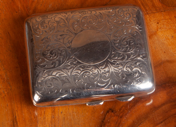 A Late Victorian Silver Plated Cigarette Case