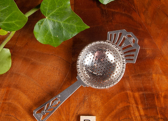 Art Deco Silver Plated Tea Strainer