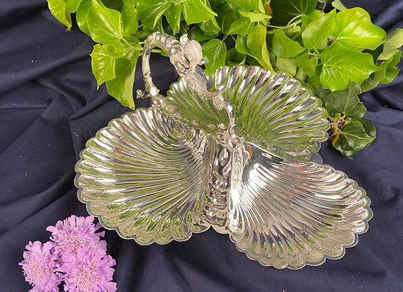 Victorian Silver Plated Serving Dish with Handle