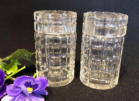 Pair of Cut Crystal Preserve Jars