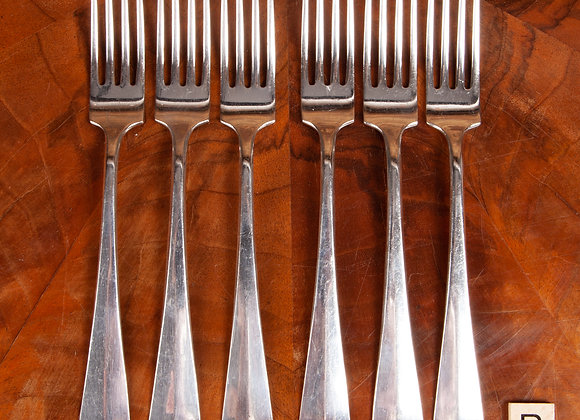 A Set of 6  Early 20th Century Silver Plated Forks