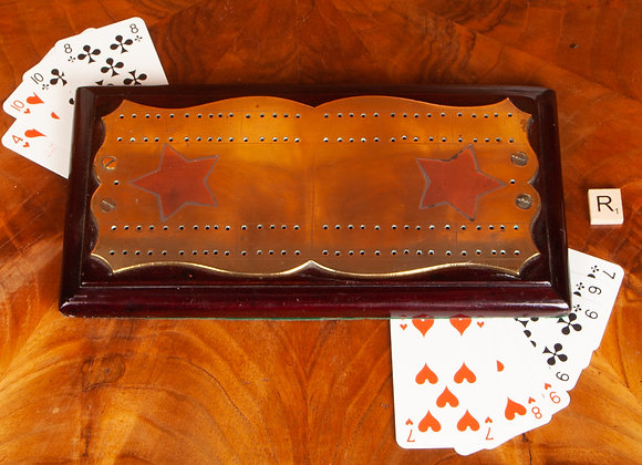 Large Victorian Cribbage Board