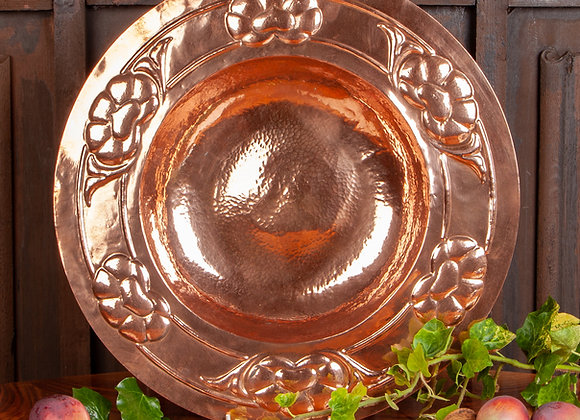 A Large Early 20th Century Copper Art and Crafts Charger/Bowl