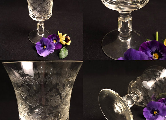 Acid Etched Antique Goblet