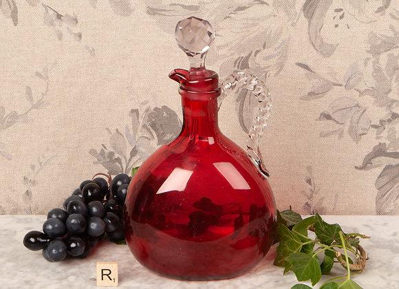 Victorian Cranberry Glass Claret Jug/Decanter