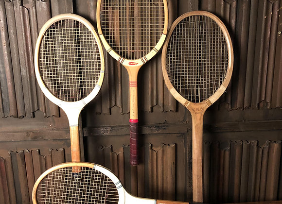 Early 20th Century Tennis Rackets