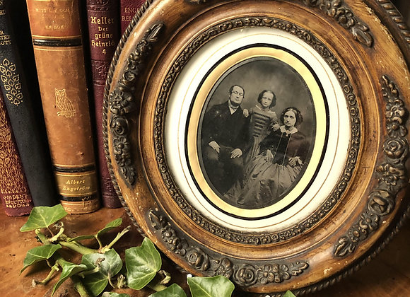 Victorian Ambrotype Photograph of a Family