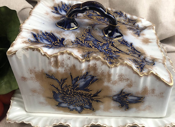 Large Victorian Cheese Dish Carlton Ware
