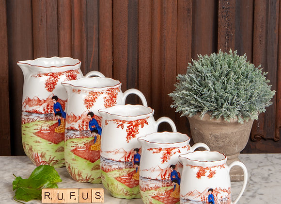 A Graduated Set of Late Victorian Jugs