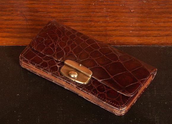 Small Late Victorian crocodile skin ladies purse