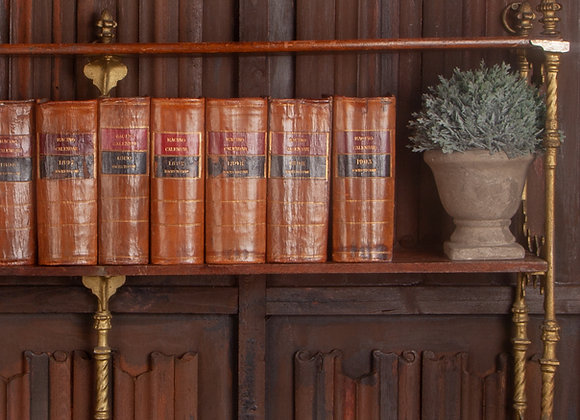 12 Victorian Racing Calender Leather Covered Books