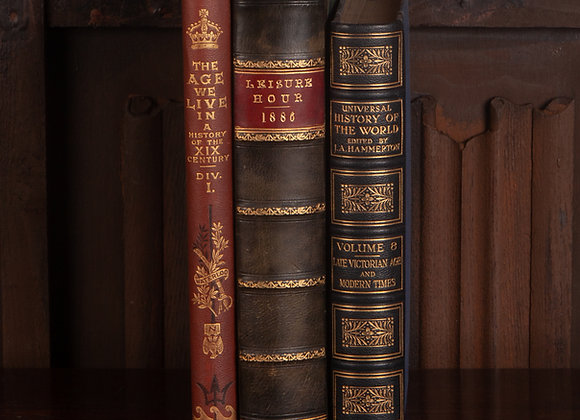 3 Large Late Victorian Books