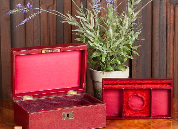 A Late Victorian Leather Jewellery Box