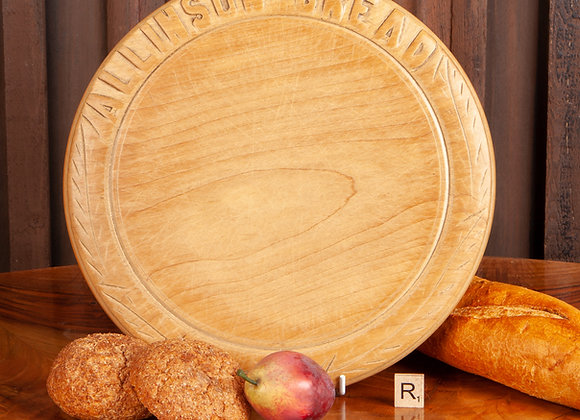 A Victorian Breadboard Advertising Allinsons Bread