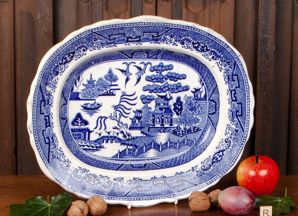 Victorian Willow Pattern Serving Plate