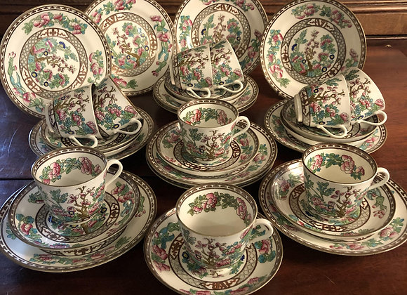Coalport China Service in the Indian Tree Design