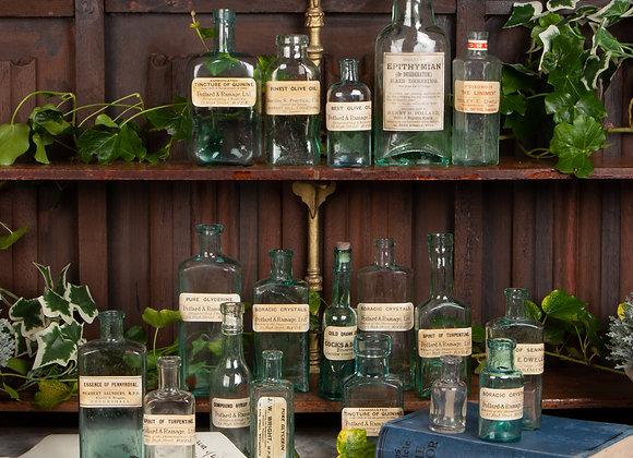 A Group of 18 Victorian Pharmacy / Chemist Bottles