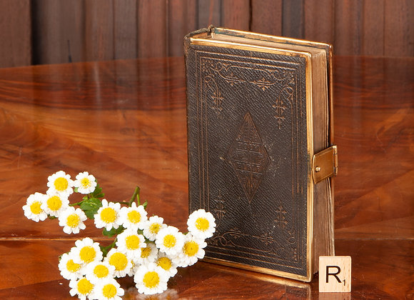 A Small Victorian Brass bound Bible